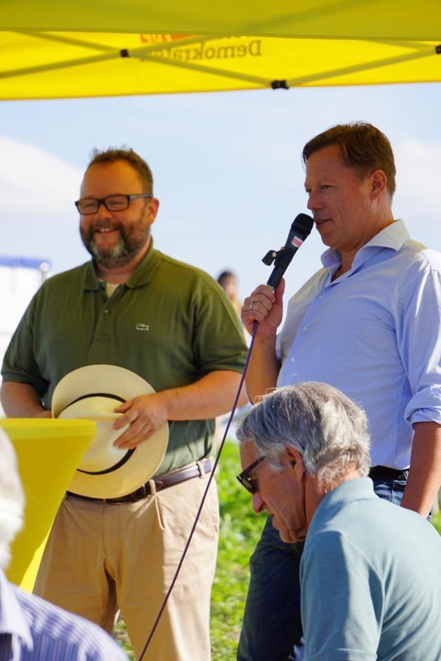 60 Jahre FDP Weingarten mit Baumreihe der Freiheit